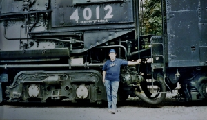 Standing in front of a Union Pacific 4-8-8-4 Big Boy in Scranton, PA