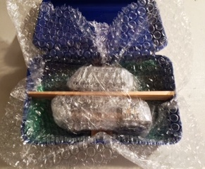 STEP 6: Bubble wrap the entire package inside the box. When you shake the box, you should hear....nothing.